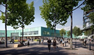 Galleria on the Park - Community Centre - Street Level View - Exterior Render